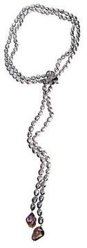 Michael Aram Orchid Lariat Necklace with Stone Detail