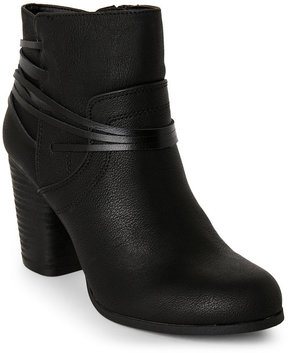 Madden-Girl Black Denice Wrap Ankle Boots