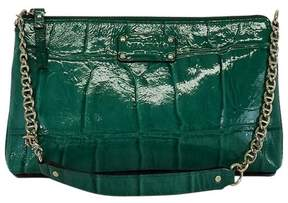 Kate Spade Green Patent Leather Croc Shoulder Bag - GREEN - STYLE
