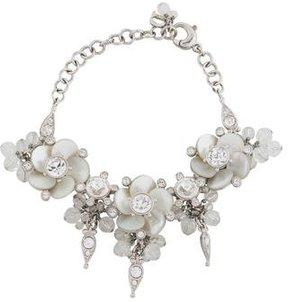 Christian Dior Mother of Pearl Flower Link Bracelet