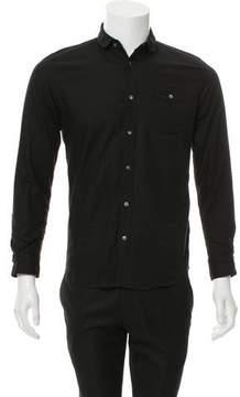 Robert Geller Woven Button-Up Shirt