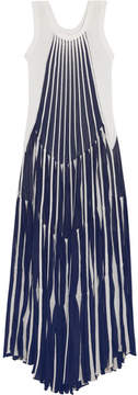 Chloé Pleated Stretch-knit Maxi Dress - Navy