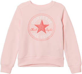 Converse Pink Chuck Patch Crew Neck Sweatshirt