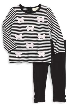 Kate Spade greta stripe sweater & leggings set (Baby Girls)