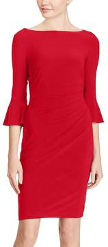Chaps Women's Jersey Bell-Sleeve Sheath Dress