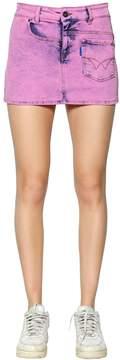 Filles a papa Twisted Cotton Denim Mini Skirt