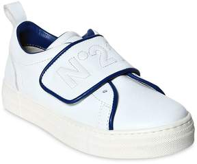 N°21 Embroidered Nappa Leather Sneakers
