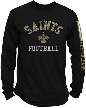 Authentic Nfl Apparel Men's New Orleans Saints Spread Formation Long Sleeve T-Shirt