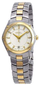 Ebel Classic Sport Silver Dial 18kt Yellow Gold Ladies Watch