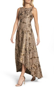 Adrianna Papell Women's Embellished Taffetta High/low Gown
