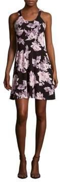 Collective Concepts Scoopneck Floral-Print Dress