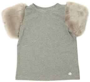 Simonetta Cotton Jersey & Faux Fur T-Shirt