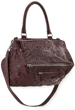 Givenchy Pandora Medium Pepe Leather Shoulder Bag, Maroon