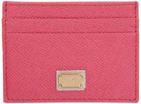 Dolce & Gabbana Pink Logo Plate Card Holder