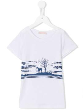 Simple horse print T-shirt