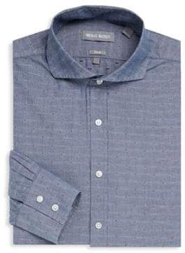Michael Bastian Printed Linen Dress Shirt