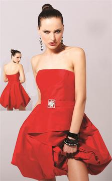 Blush Lingerie 9120 Strapless Bubble Hem Cocktail Dress