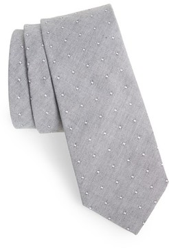 1901 Men's Lantana Dot Cotton Skinny Tie