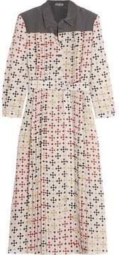 Bottega Veneta Printed Silk Crepe De Chine Midi Dress