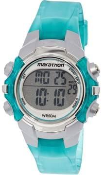Timex Women's Marathon T5K817 Green Resin Quartz Sport Watch