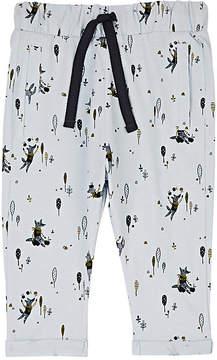 Emile et Ida Veggie Wolf-Print Cotton Drawstring Pants