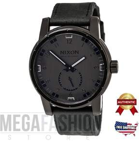 Nixon Black The Patriot Leather Watch by A938-001-00