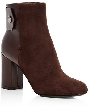Belstaff Women's Astel Suede Block Heel Booties