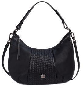 Elliott Lucca Intreccio Leather Demi Hobo Bag