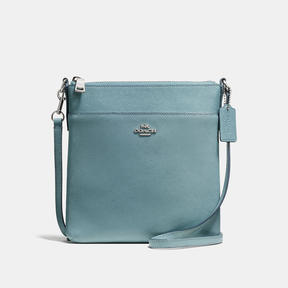 COACH MESSENGER CROSSBODY IN CROSSGRAIN LEATHER - f36642 - SILVER/CLOUD