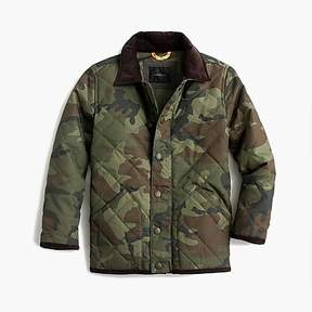 J.Crew Boys' Sussex quilted jacket in camo