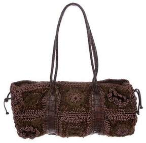 Carlos Falchi Fatto a Mano by Crochet Handle Bag