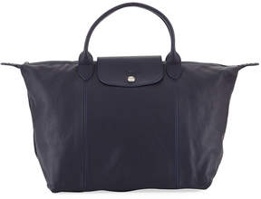 Longchamp Le Pliage Cuir Etoiles Medium Leather Handbag with Strap