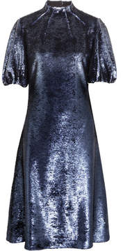 Emilia Wickstead Cutout Sequined Tulle Dress - Indigo