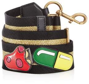 Marc Jacobs Mushroom Webbing Handbag Strap - BLACK/GOLD - STYLE
