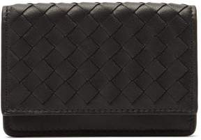 Bottega Veneta Intrecciato Leather Cardholder - Womens - Black
