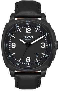 Nixon Men's Charger Leather Strap Watch, 42Mm