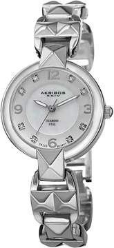Akribos XXIV Silver-tone Alloy Ladies Watch