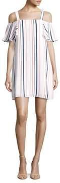 Collective Concepts Striped Cold-Shoulder Dress