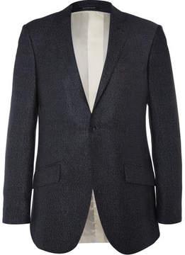Richard James Blue Seishin Slim-Fit Silk And Wool-Blend Hopsack Blazer