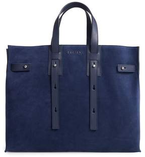 Orciani Petra Suede & Leather Tote - Blue