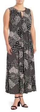 Context Plus Keyhole Paisley Maxi Dress