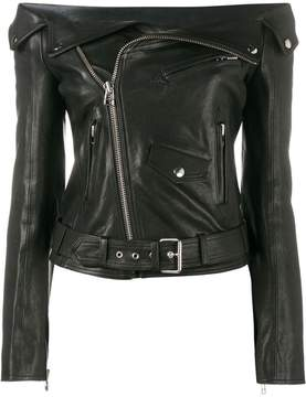 Faith Connexion off-shoulder biker jacket