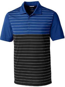 Cutter & Buck Blue & Black Endeavor Stripe Polo - Men
