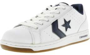 Converse Men's Karve Ox White / Navy Ankle-High Leather Fashion Sneaker - 7.5M