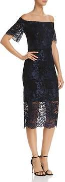 Aqua Off-the-Shoulder Lace Dress - 100% Exclusive