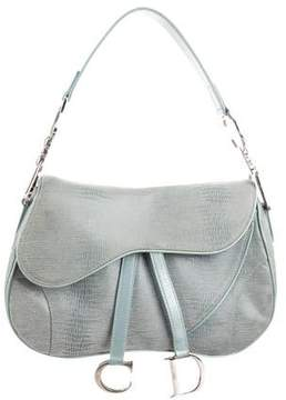 Christian Dior Textured Saddle Bag