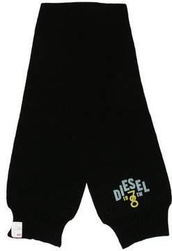 Diesel Logo Rib Knit Scarf