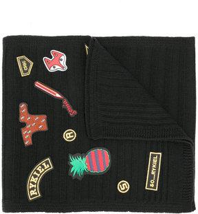 Sonia Rykiel patches scarf