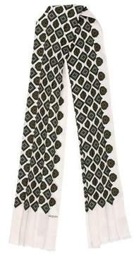 Lanvin Silk Pleated Scarf