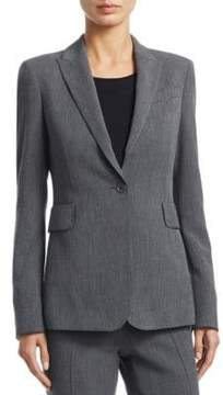 Akris Punto Jersey Button-Front Blazer